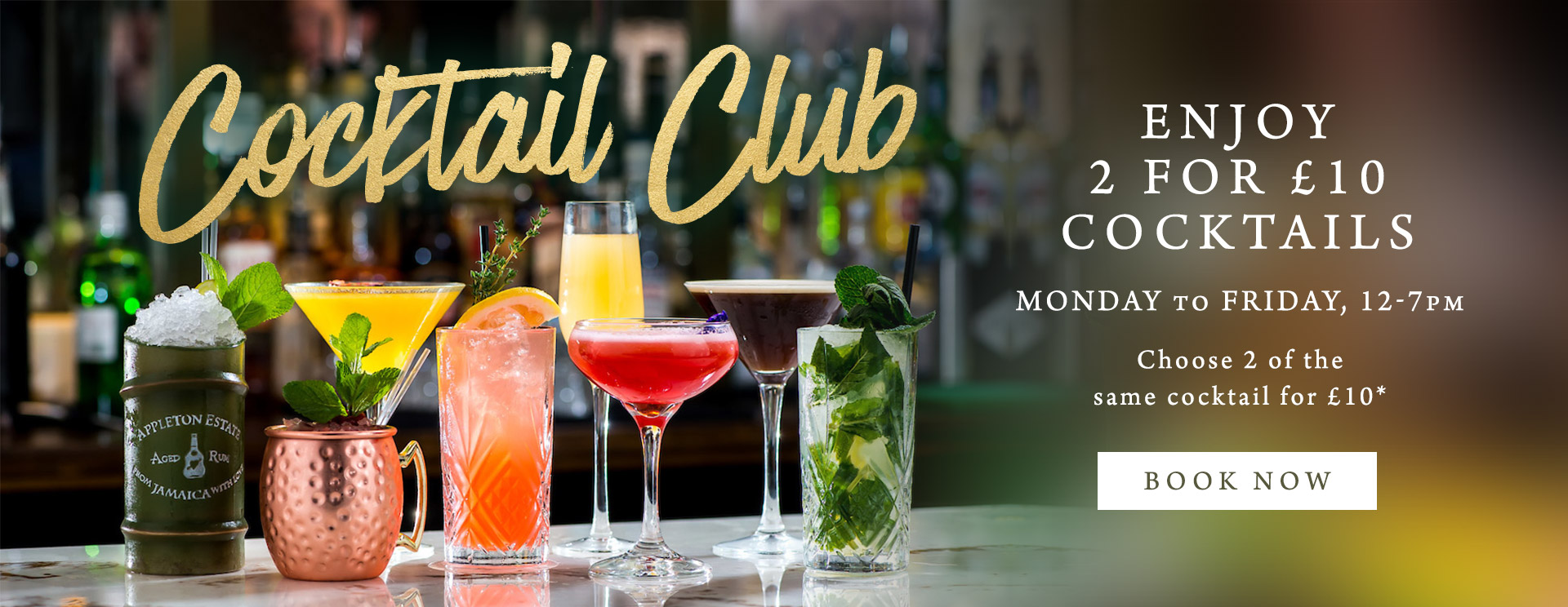 2 for £10 cocktails at The Minnow