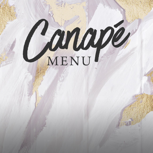 Canapé menu at The Minnow