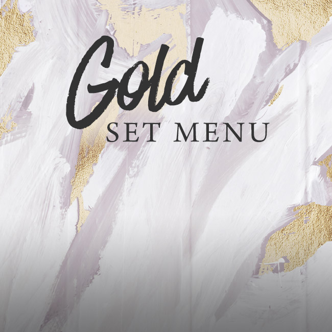 Gold set menu at The Minnow