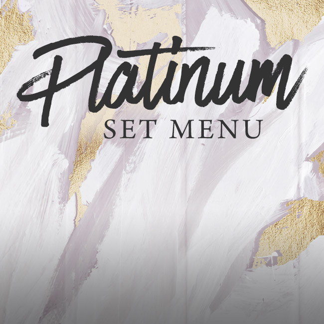 Platinum set menu at The Minnow
