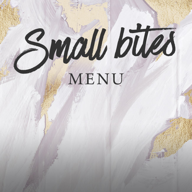 Small Bites menu at The Minnow