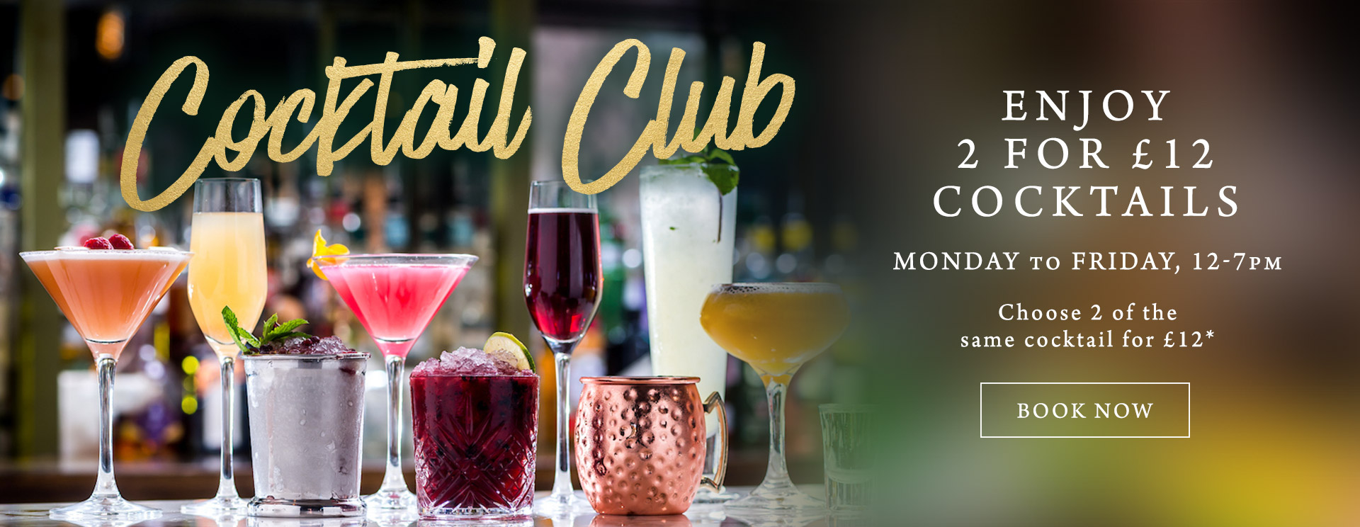 2 for £12 cocktails at The Minnow